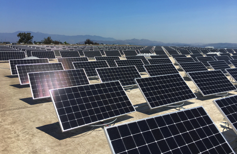 Solar trackers find a new home on the roof publicscrutiny Image collections